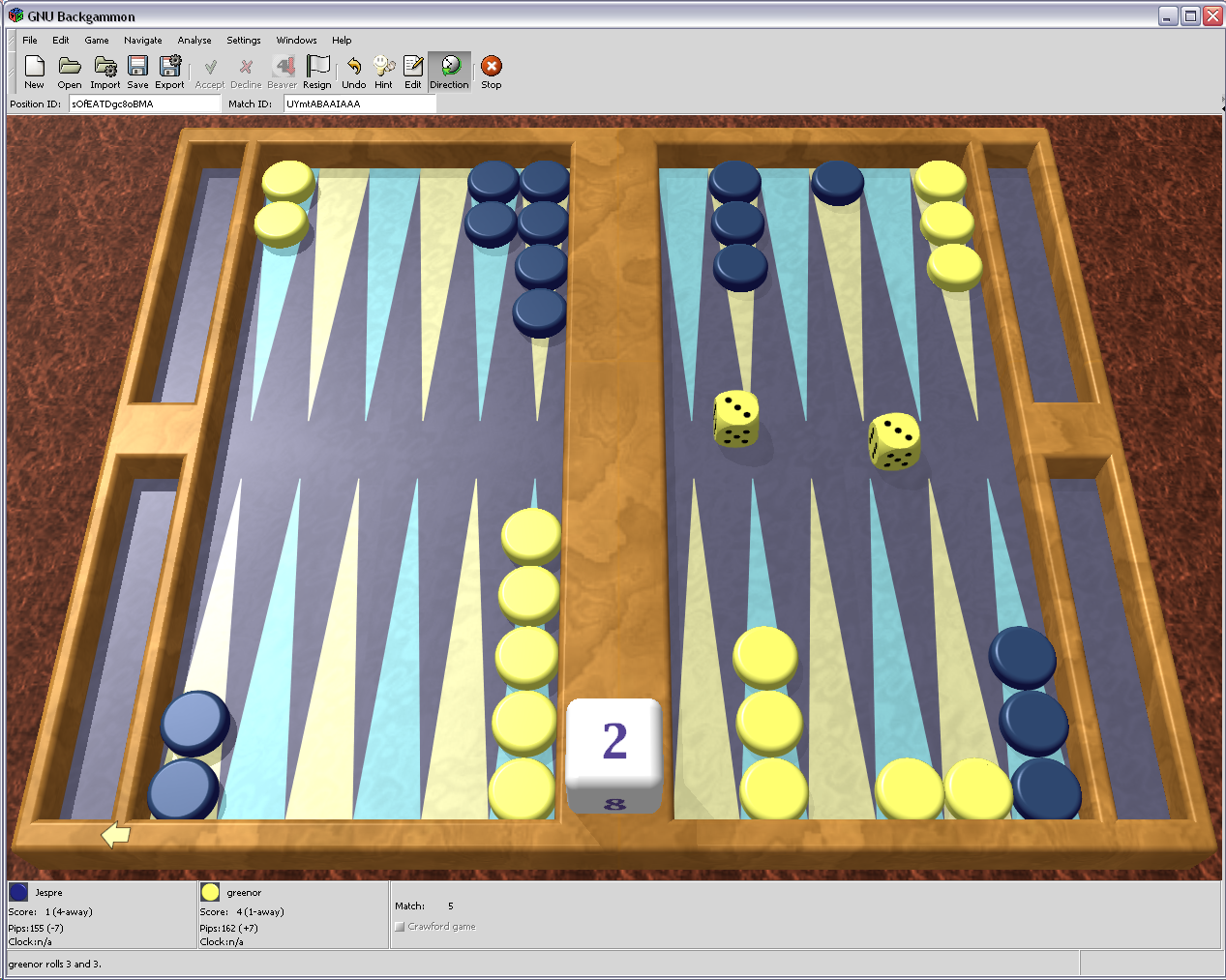 GNU Backgammon 0.90.20110117
